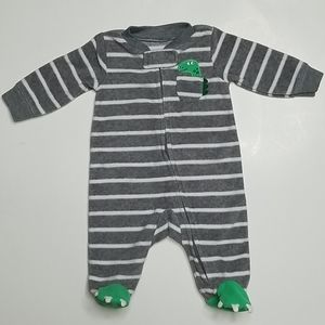 Carter's Dinosaur Fleece Footies Pajamas Size NB